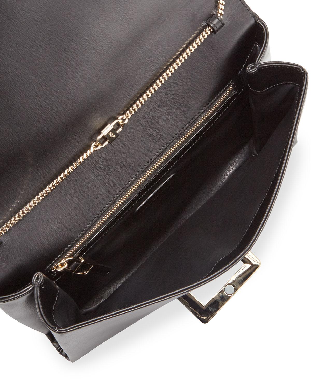 college purses - monogram calfskin clutch bag, black