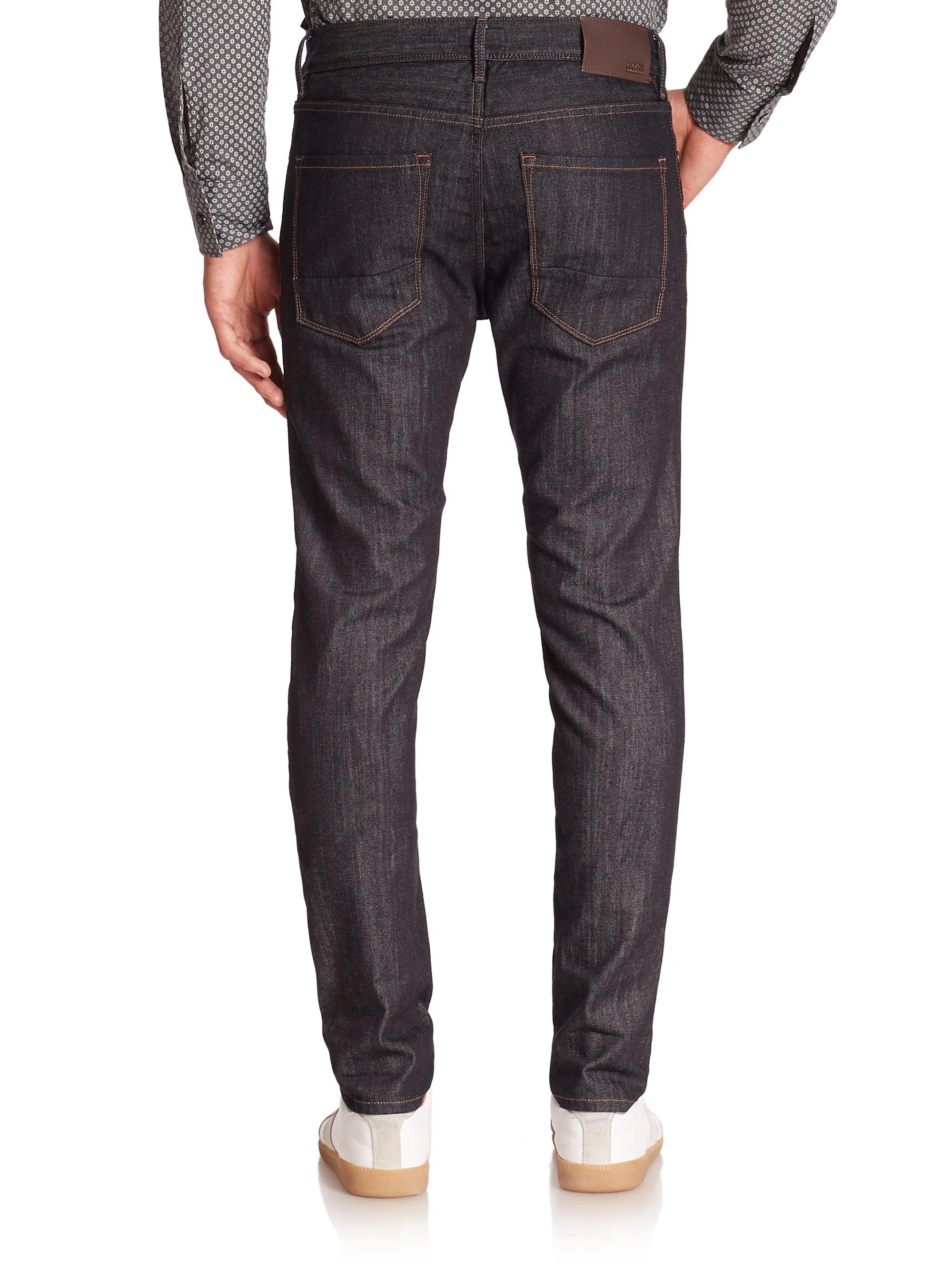 boss charleston stretch slim fit jeans in blue for men. Black Bedroom Furniture Sets. Home Design Ideas