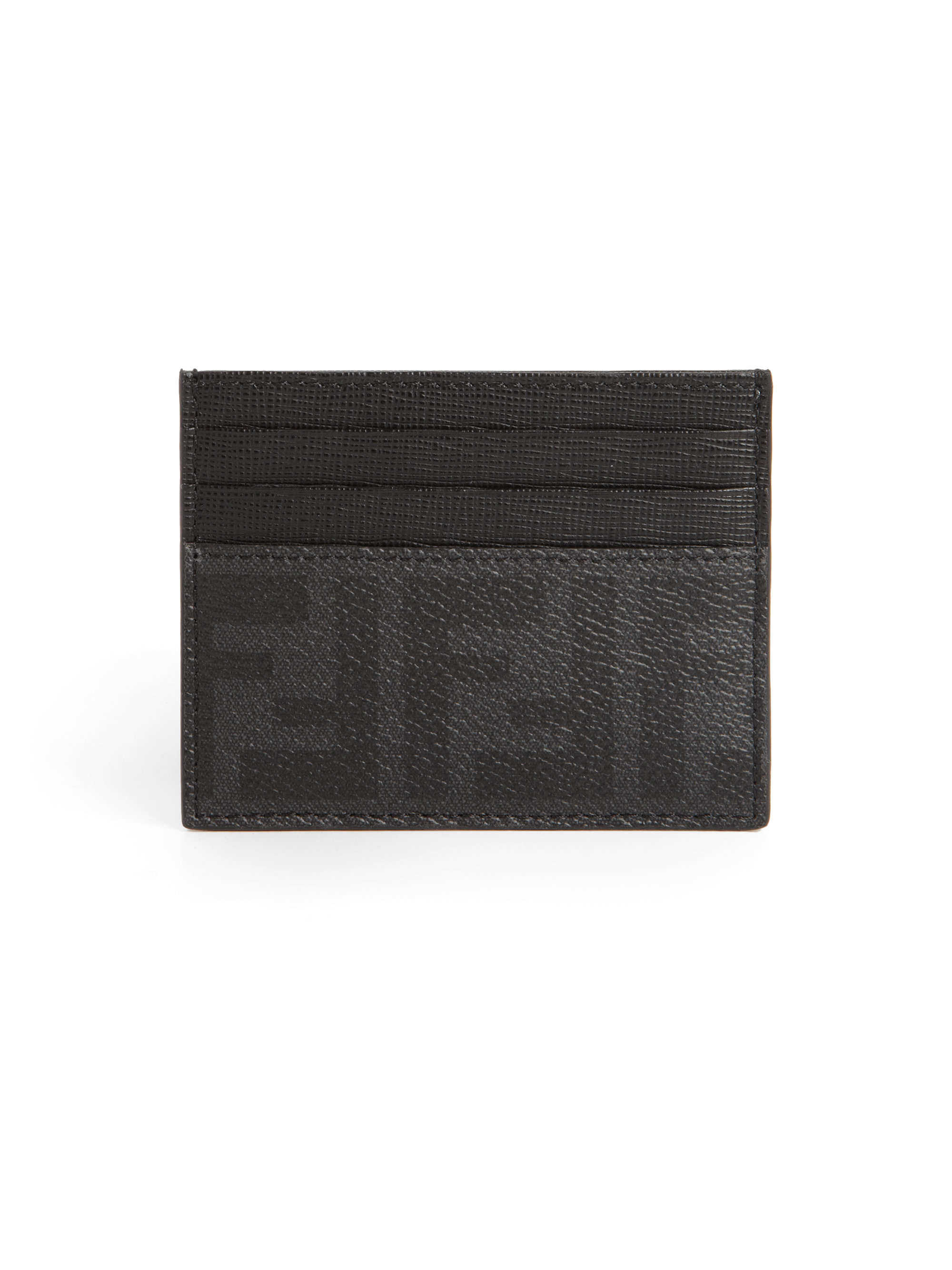 4c39c4331d Fendi Black Zucca Card Case for men