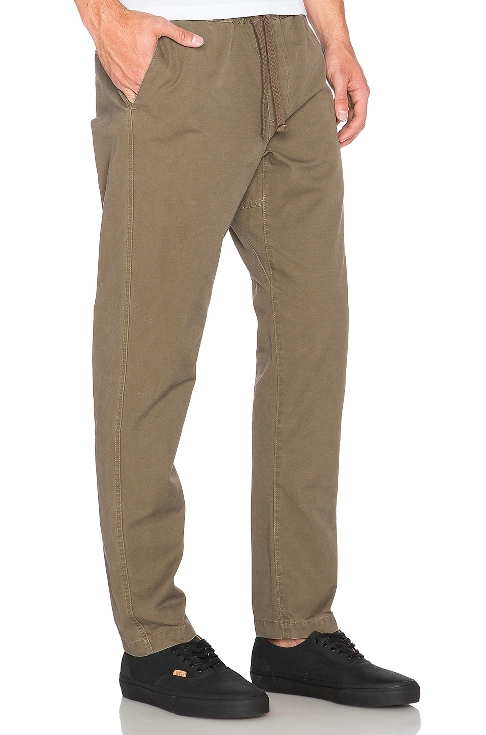 Obey Travelers Slub Twill Pant in Natural for Men | Lyst