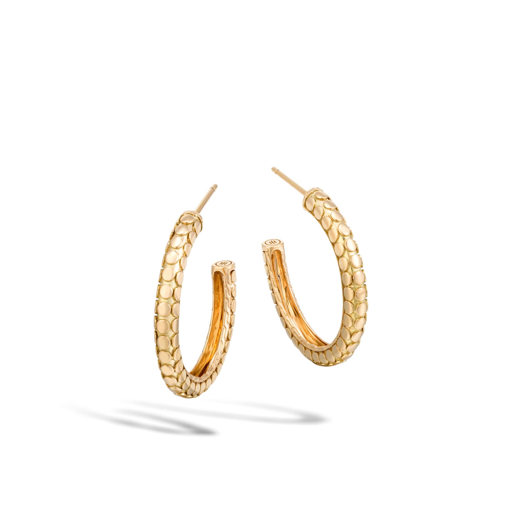 John hardy dot small hoop earrings in metallic lyst for John hardy jewelry earrings