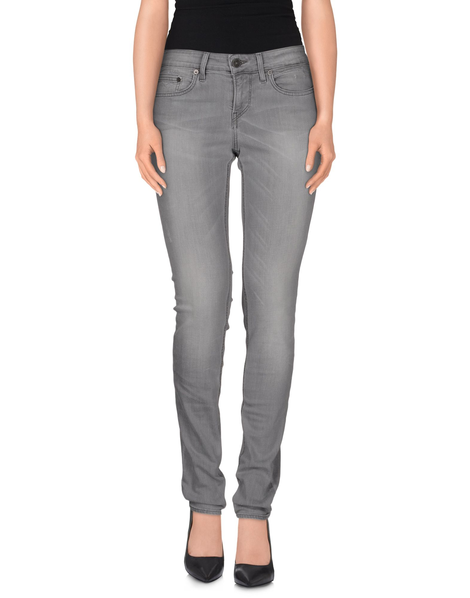meltin 39 pot denim trousers in gray lyst. Black Bedroom Furniture Sets. Home Design Ideas