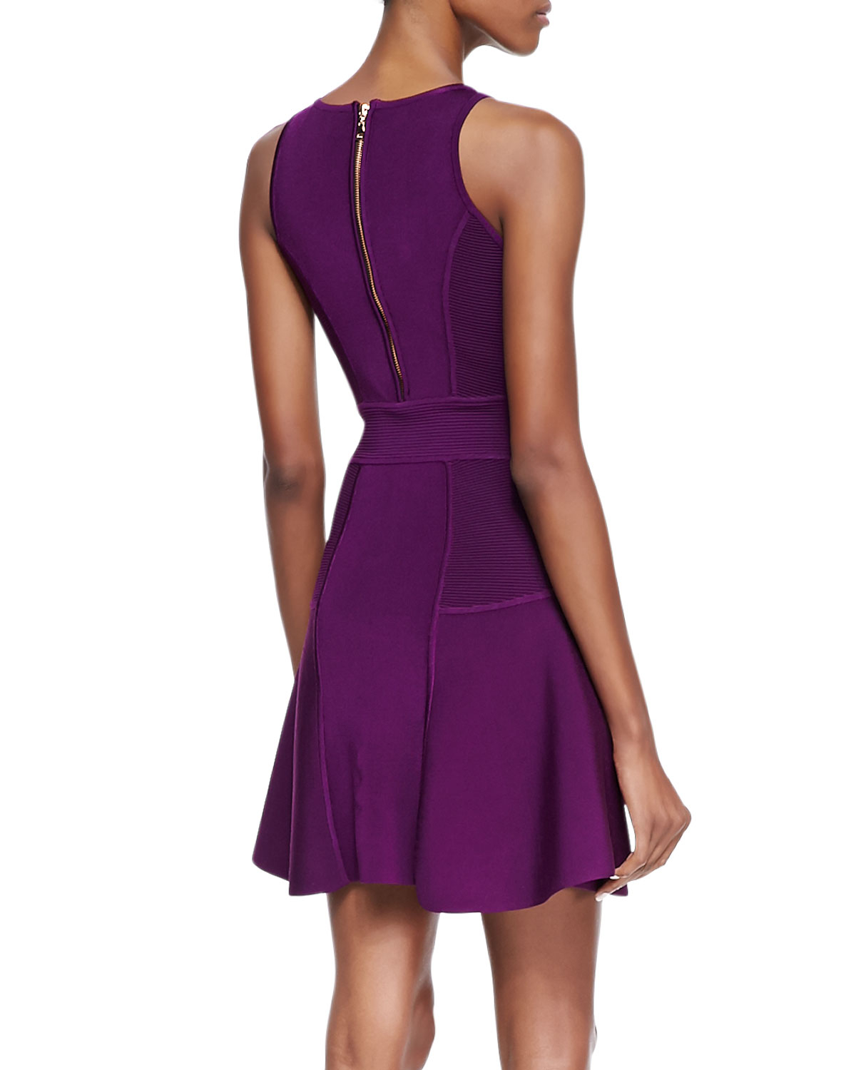 Milly Knit Fitflare Dress In Purple Lyst
