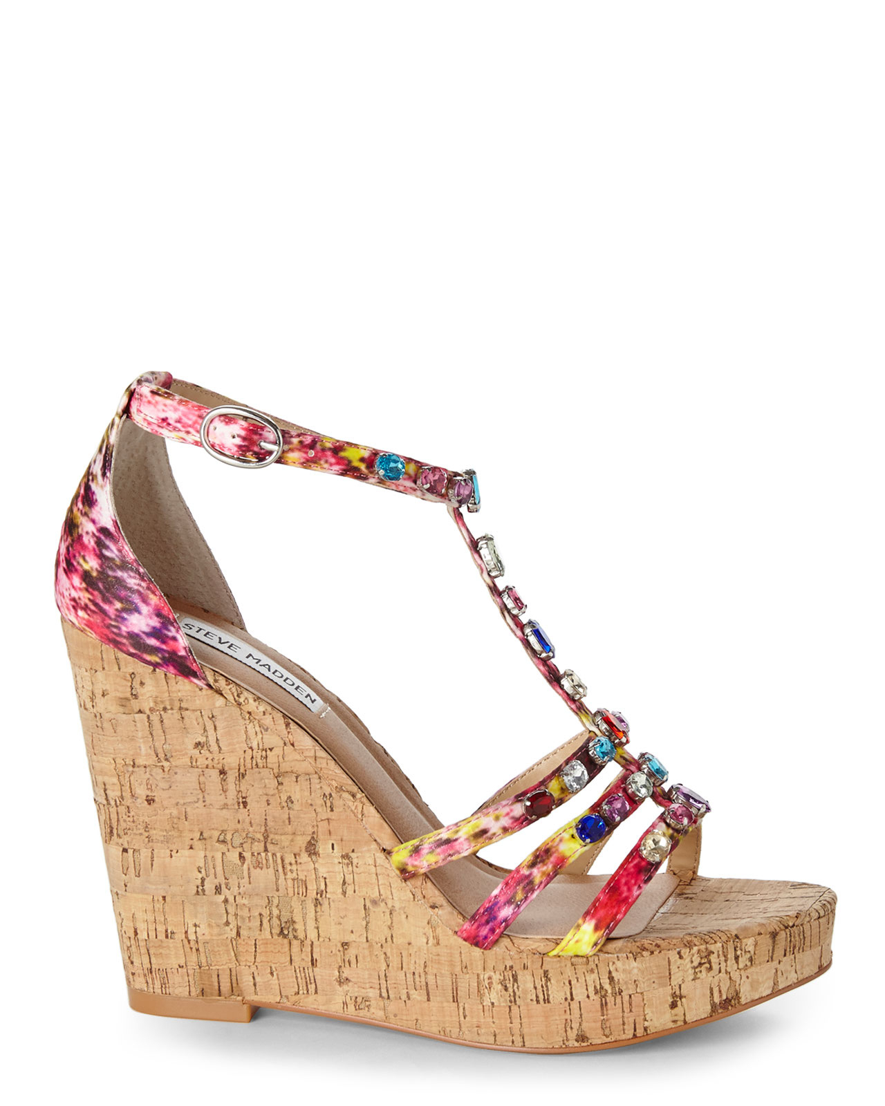 Steve madden Multicolor Faara Wedge Sandals | Lyst