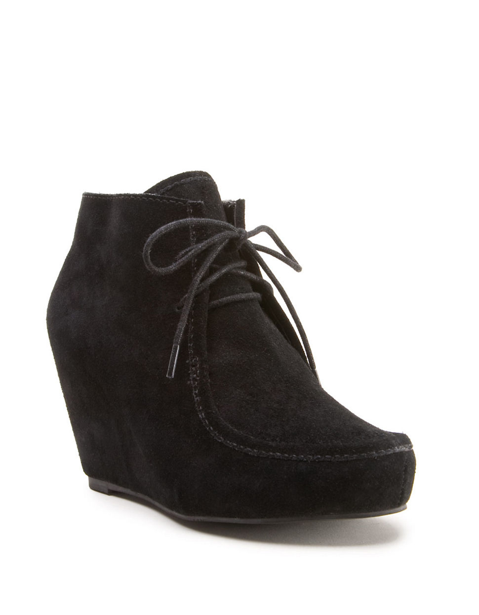 dv by dolce vita pilar wedge boots in black black suede