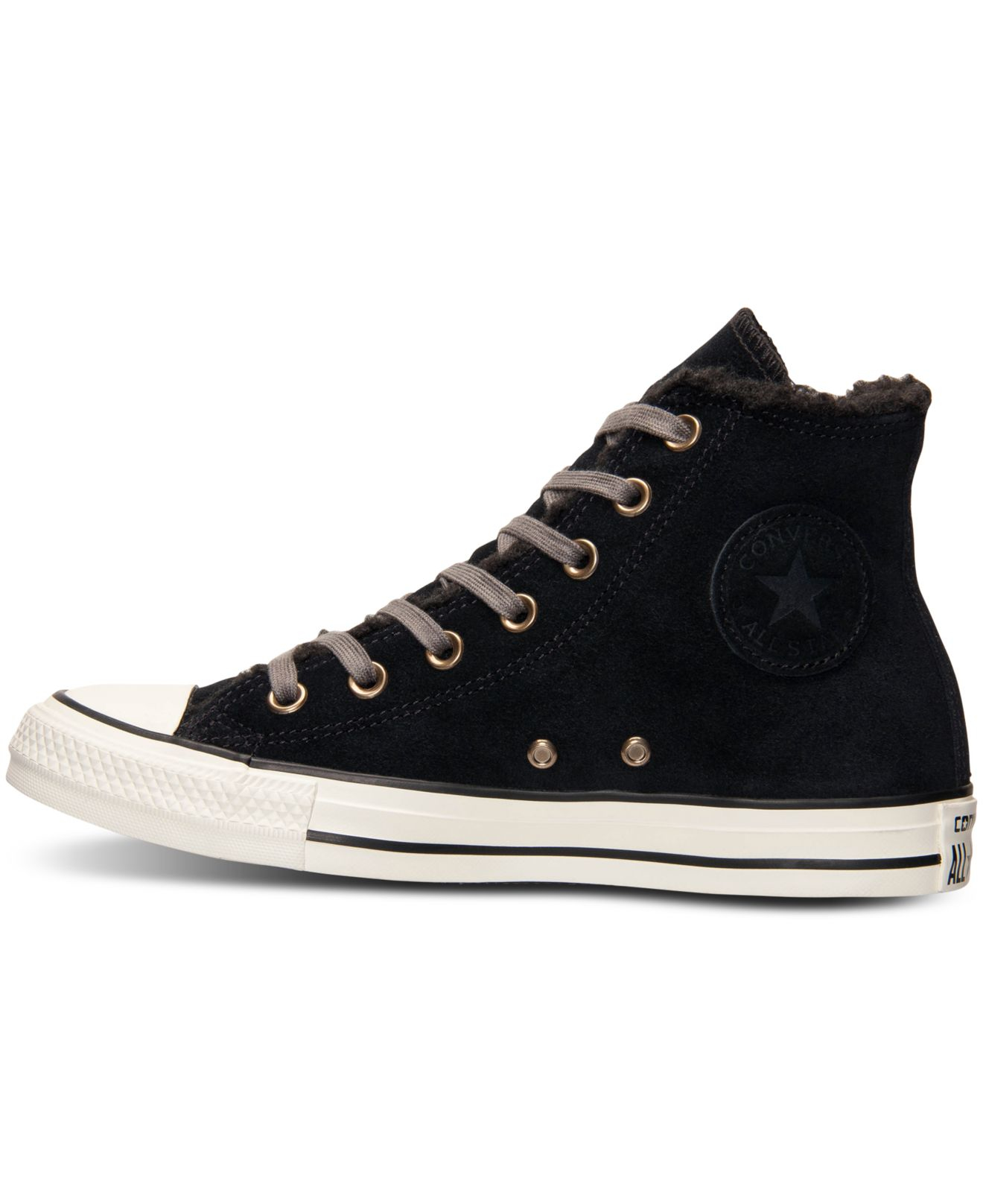 1f70a47980e0bc Lyst - Converse Women s All Star Faux Shearling High Top Platform ...