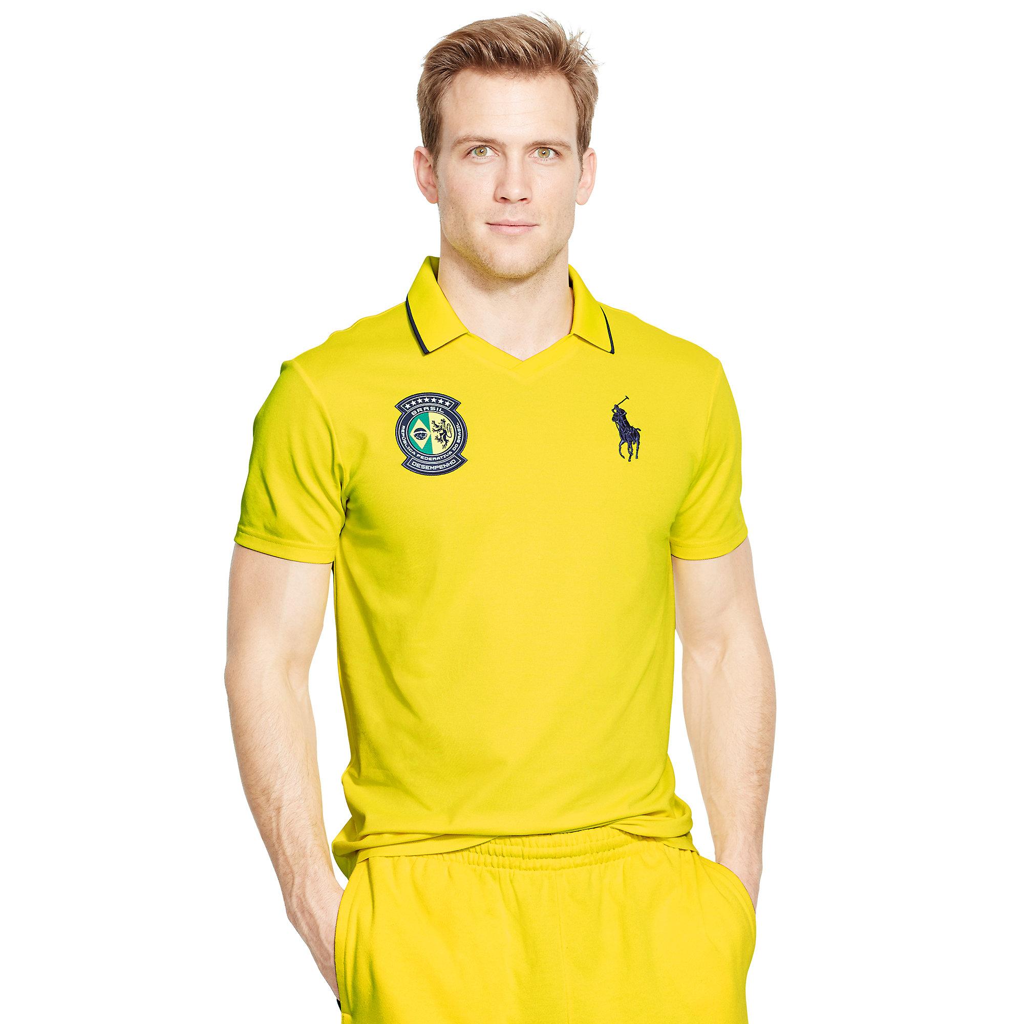 Men For Shirt Yellow Ralph Ewd9iyeh2 Polo Lauren Brazil RqS34Ajc5L