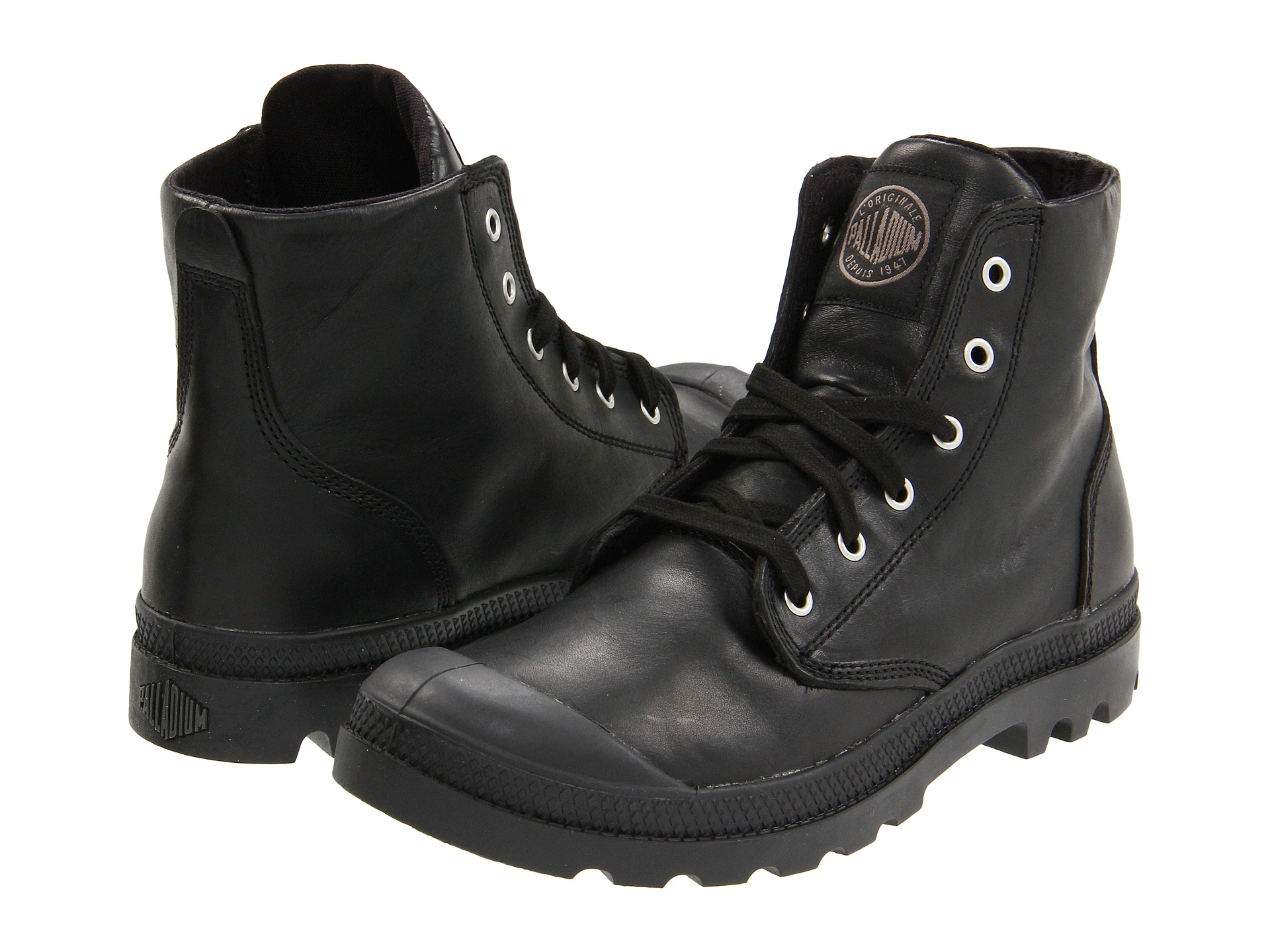 palladium pampa hi leather in black for men lyst