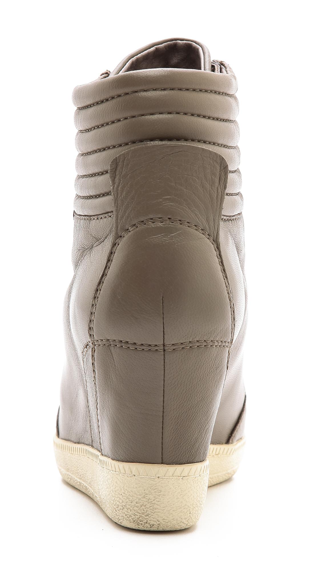 Ash Blade High Top Wedge Sneakers Black in Grey