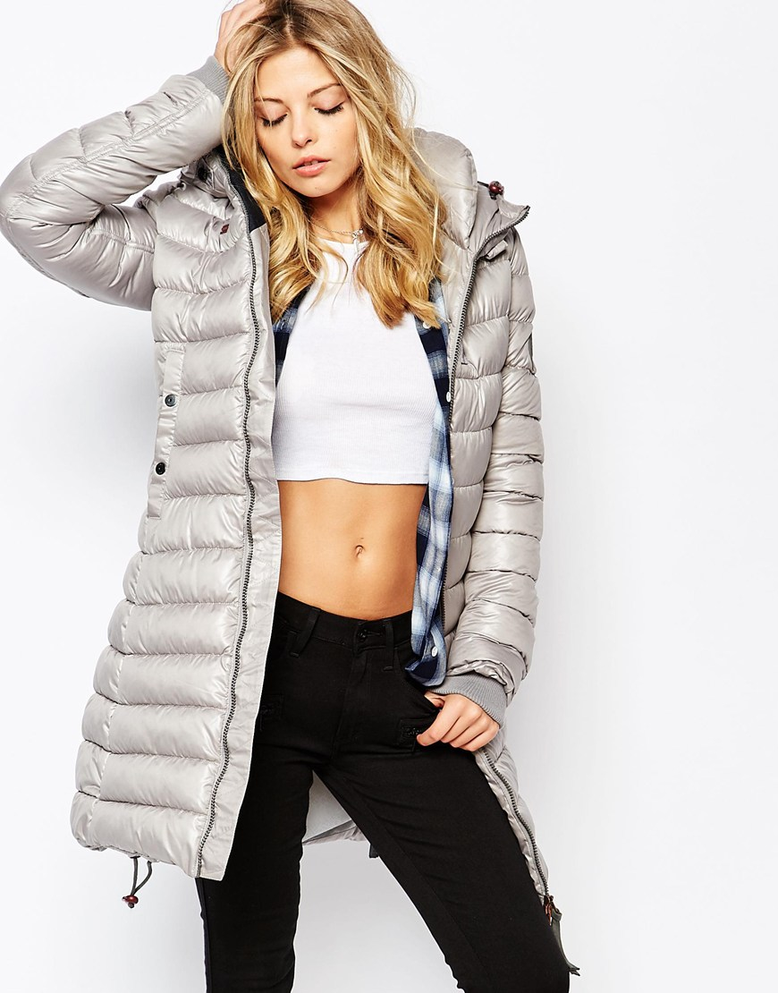 Lyst - G-Star Raw Whistler Fitted Padded Coat in Gray fc6c82dfc95d