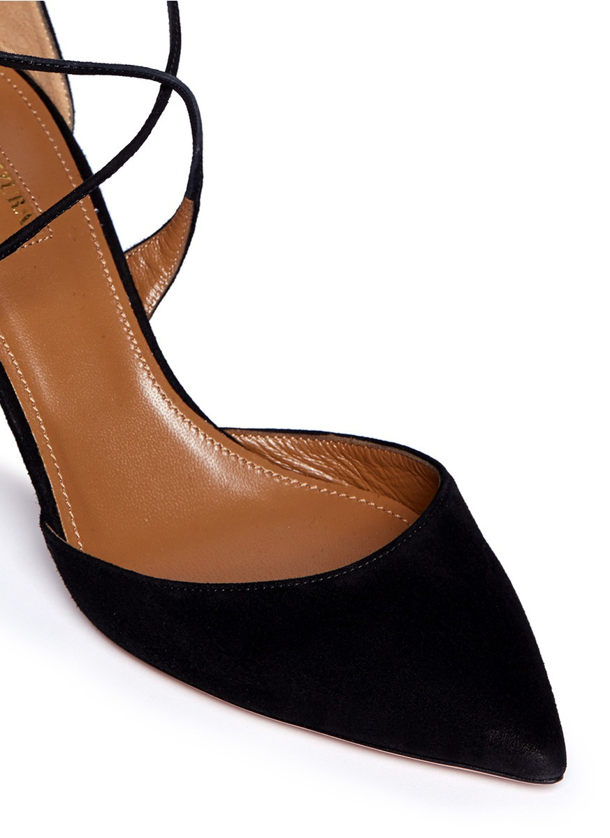 Black Leather Women Shoe With Covered Toe And Back