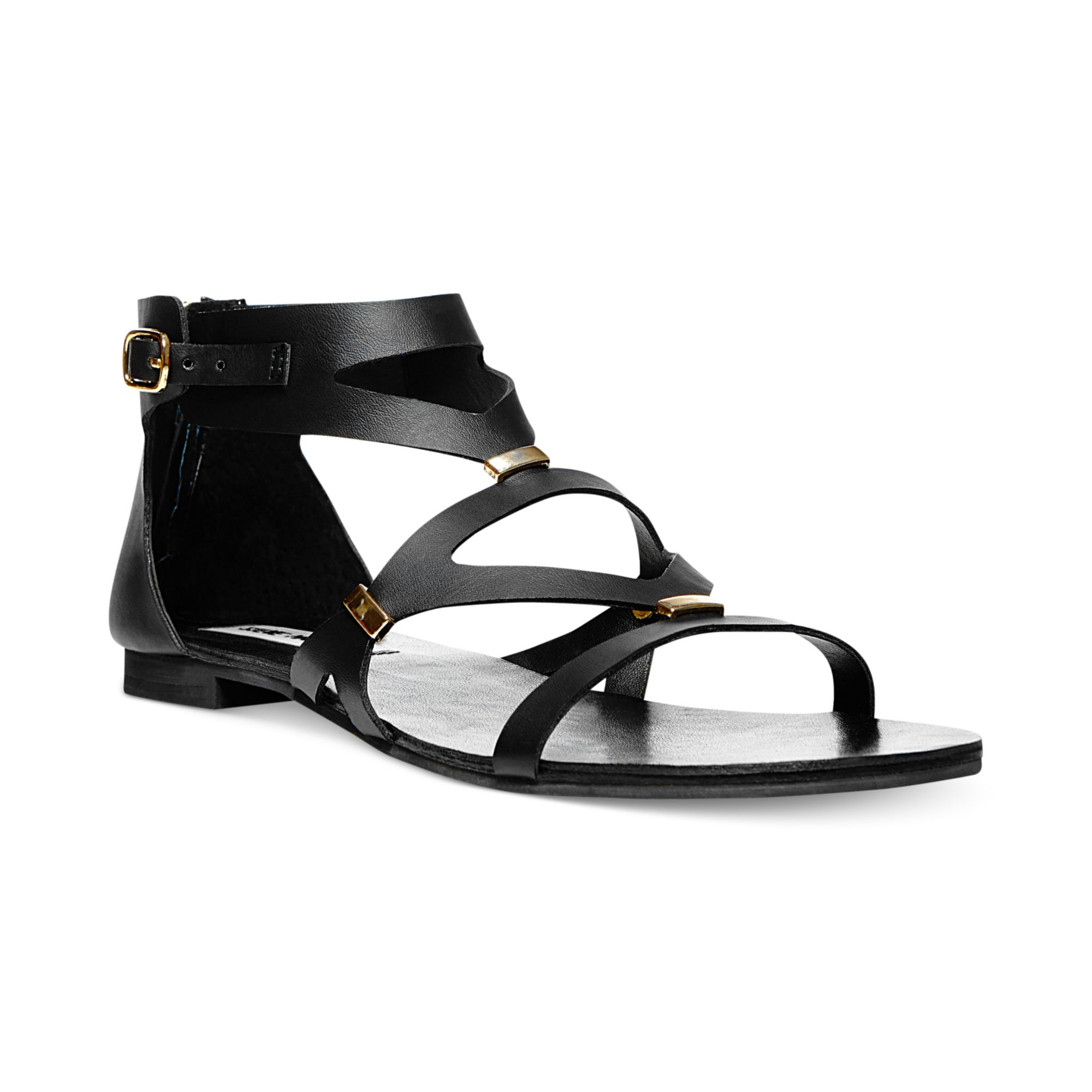Steve Womens Flat In Sandals Madden Black Lyst Commma rdCexBo