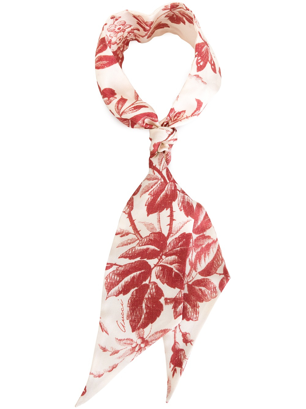 Gucci Silk Scarf in Red Lyst