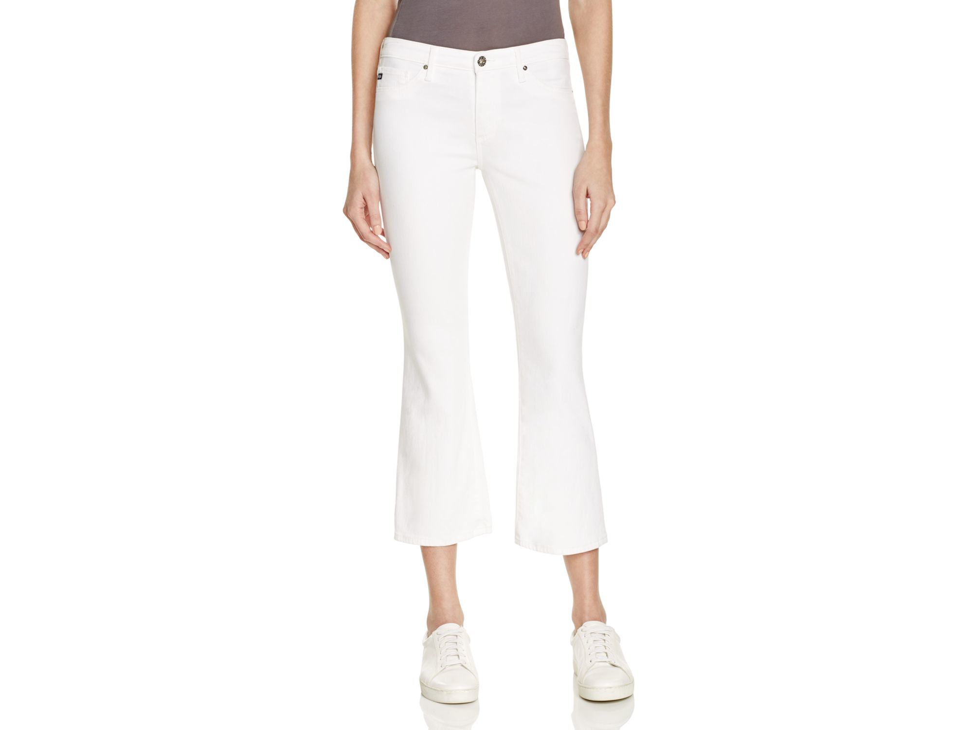 Ag jeans Jodi Cropped Bootcut Jeans In White in White | Lyst