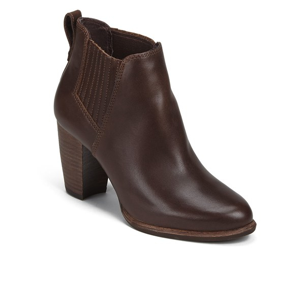 ugg s poppy heeled ankle boots in brown lyst