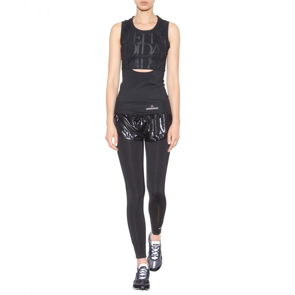 Lyst - adidas By Stella McCartney Essentials Short Leggings in Black 6ef0dc3039