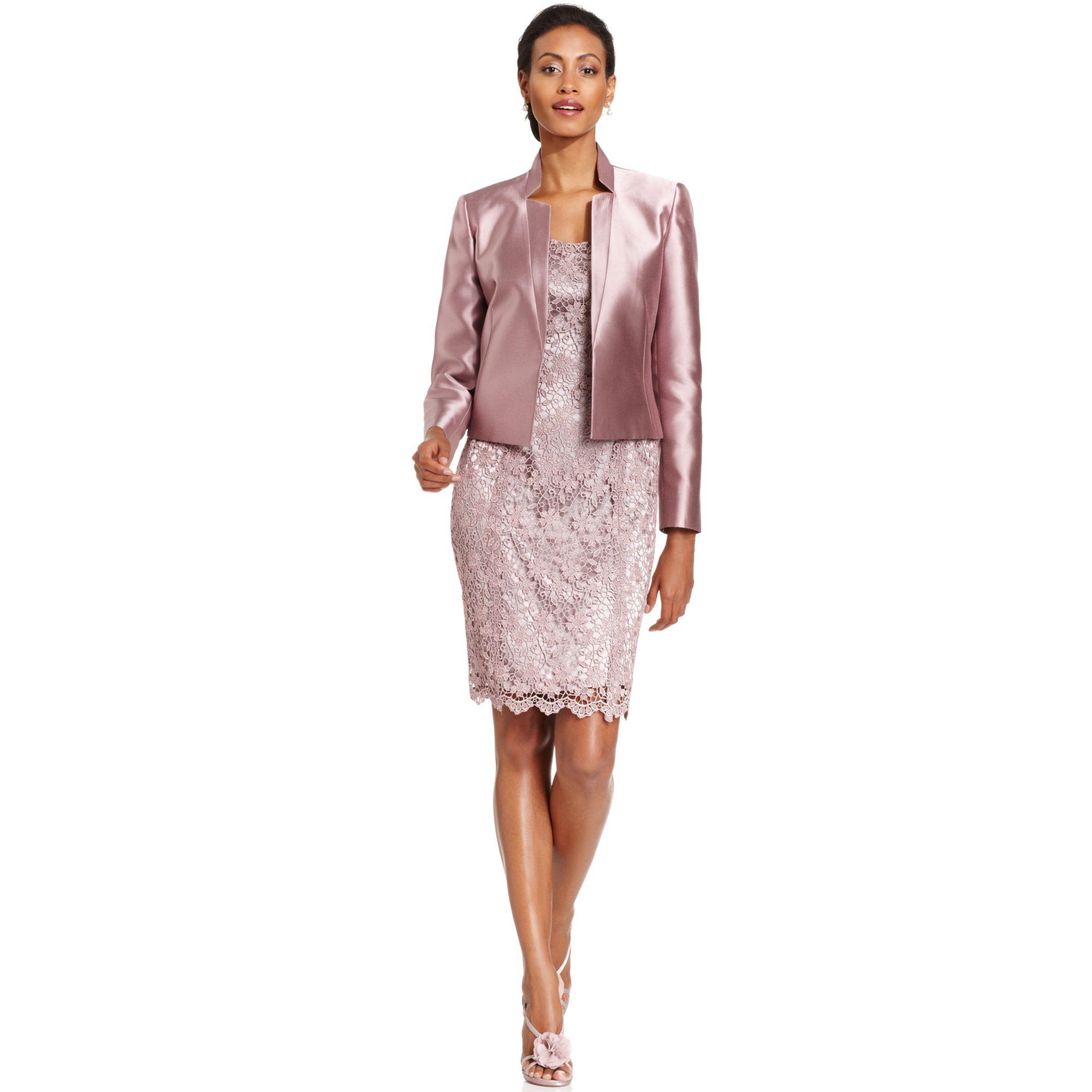 Lace Open Front Jacket Lace Dress