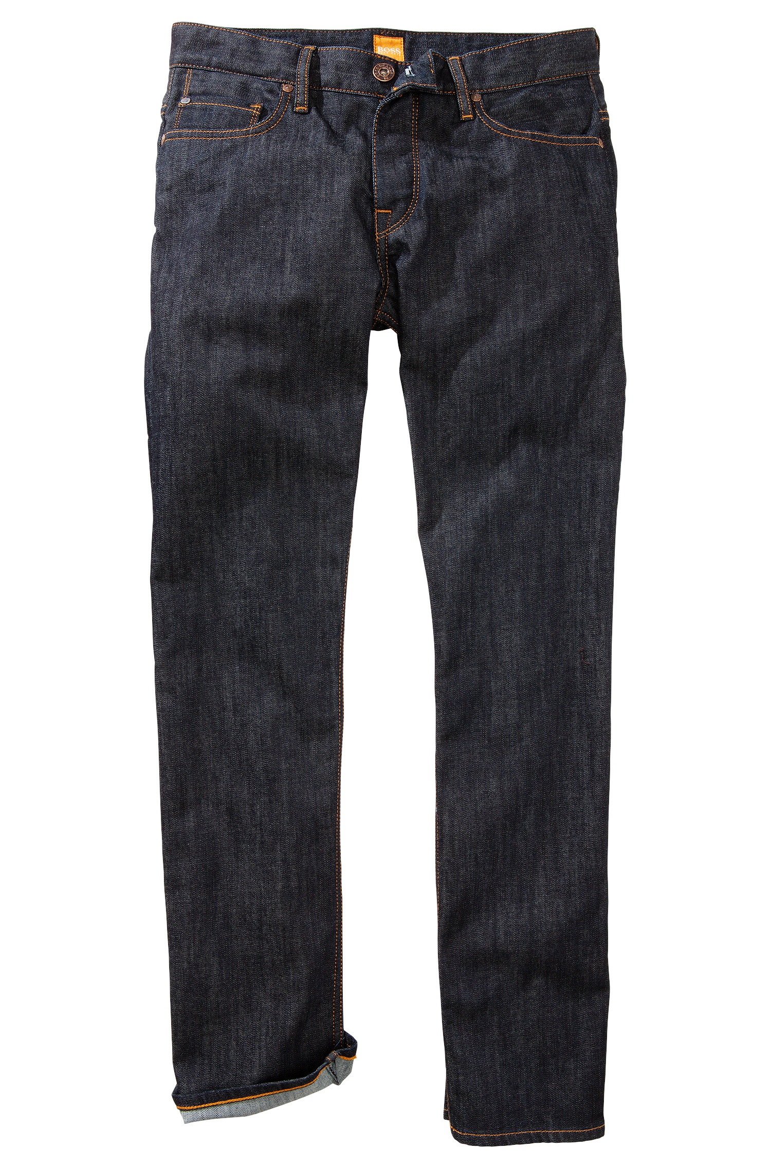 boss orange regular fit jeans 39 orange25 39 in selvedge denim. Black Bedroom Furniture Sets. Home Design Ideas