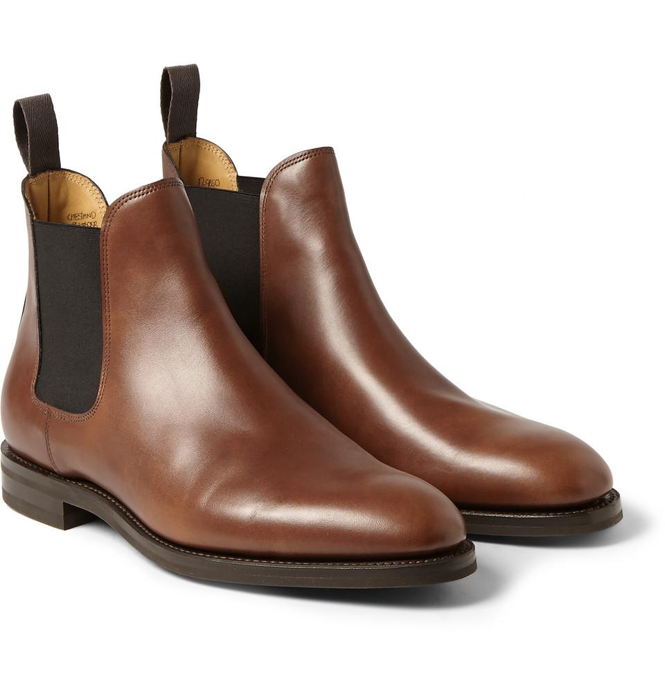 cd9fc80f084 John Lobb Brown Misty Leather Chelsea Boots for men