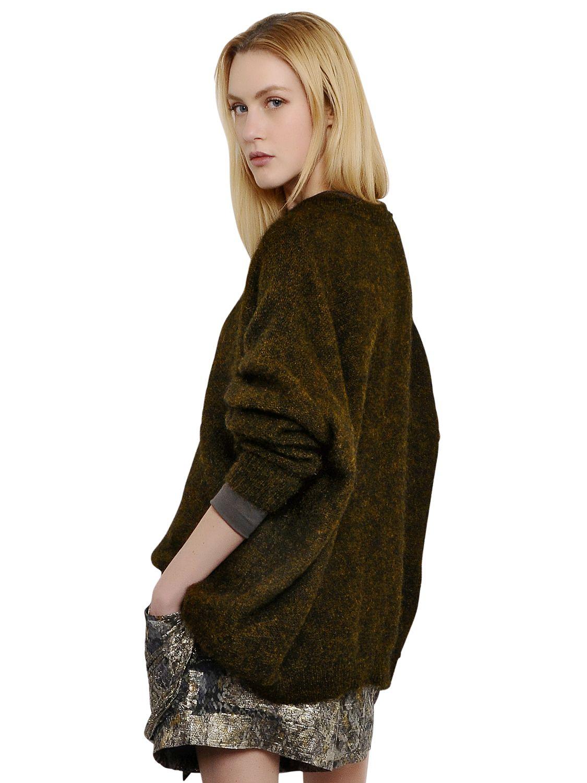isabel marant oversized wool blend sweater in natural lyst. Black Bedroom Furniture Sets. Home Design Ideas