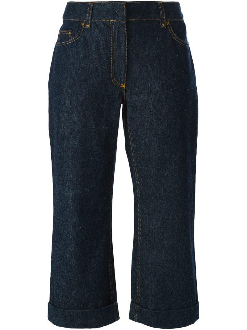 dolce gabbana cropped jeans in blue lyst. Black Bedroom Furniture Sets. Home Design Ideas
