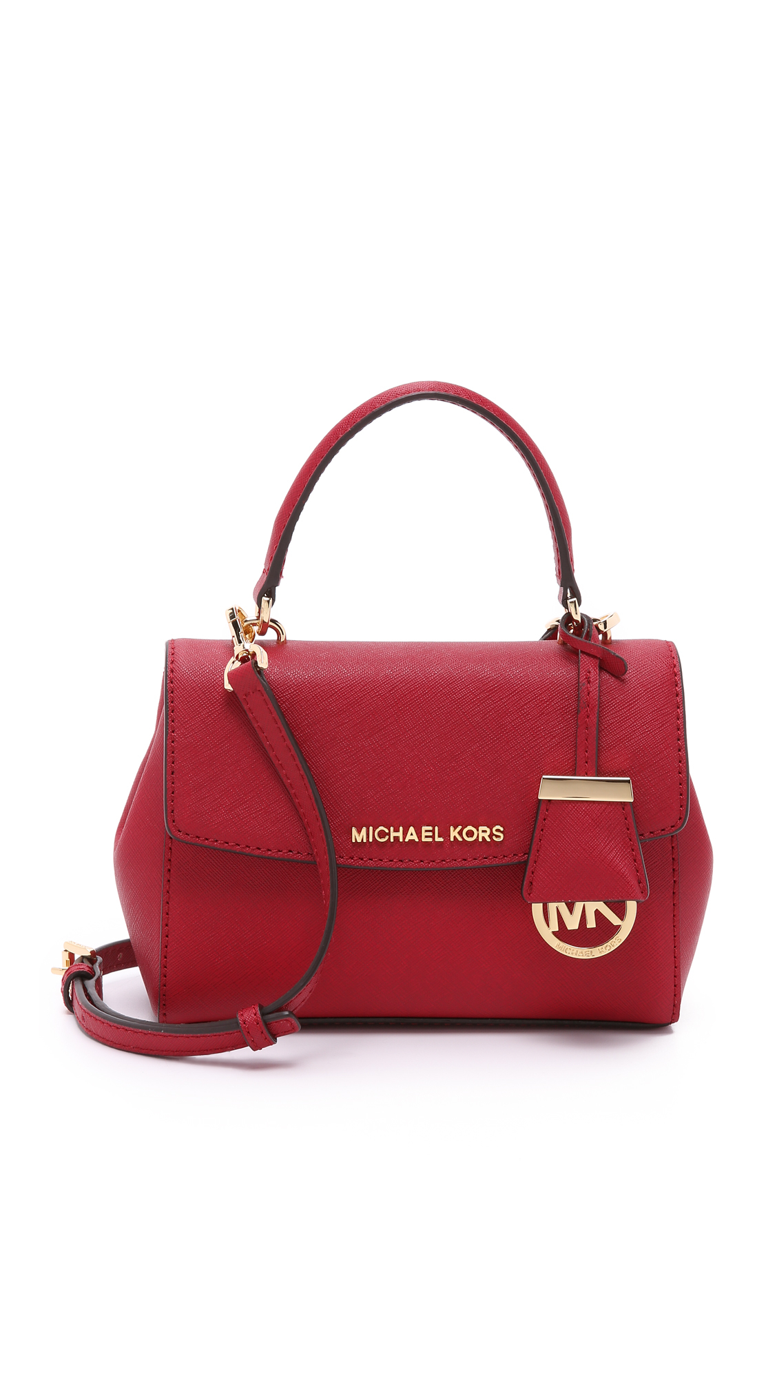 0a016044c89ae Lyst - MICHAEL Michael Kors Ava Extra Small Cross Body Bag - Cherry ...