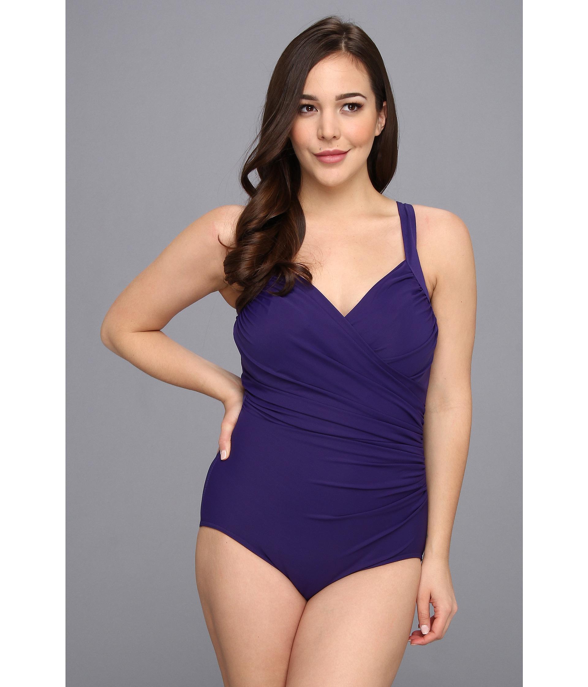 a91c8e8797d Miraclesuit Plus Size Sanibel Onepiece in Purple - Lyst