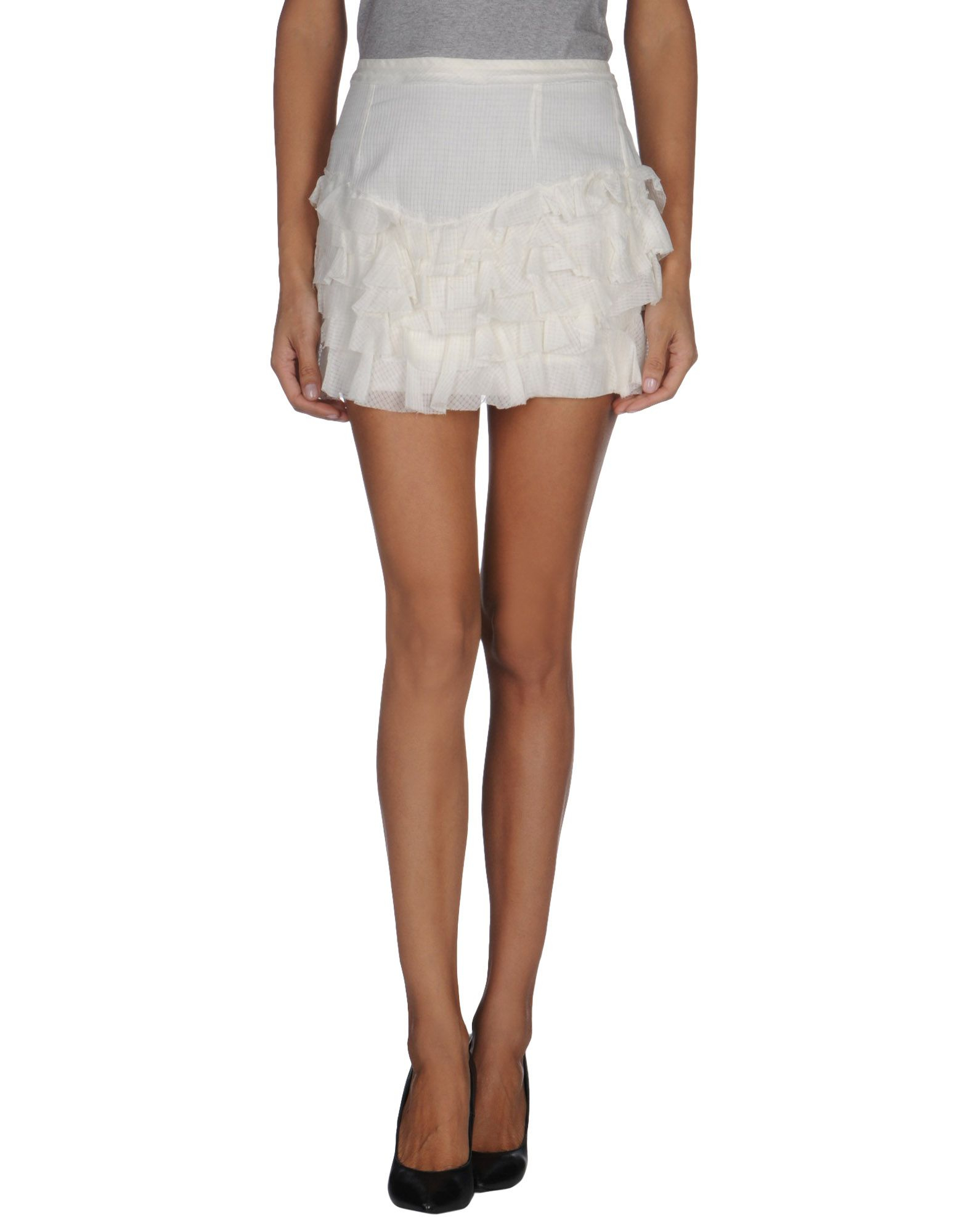 marant mini skirt in white save 61 lyst