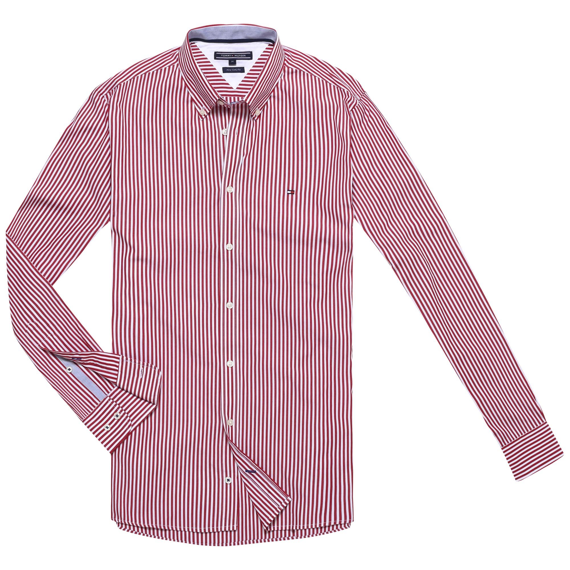 Tommy hilfiger north stripe shirt for men lyst for Tommy hilfiger fitzgerald striped shirt