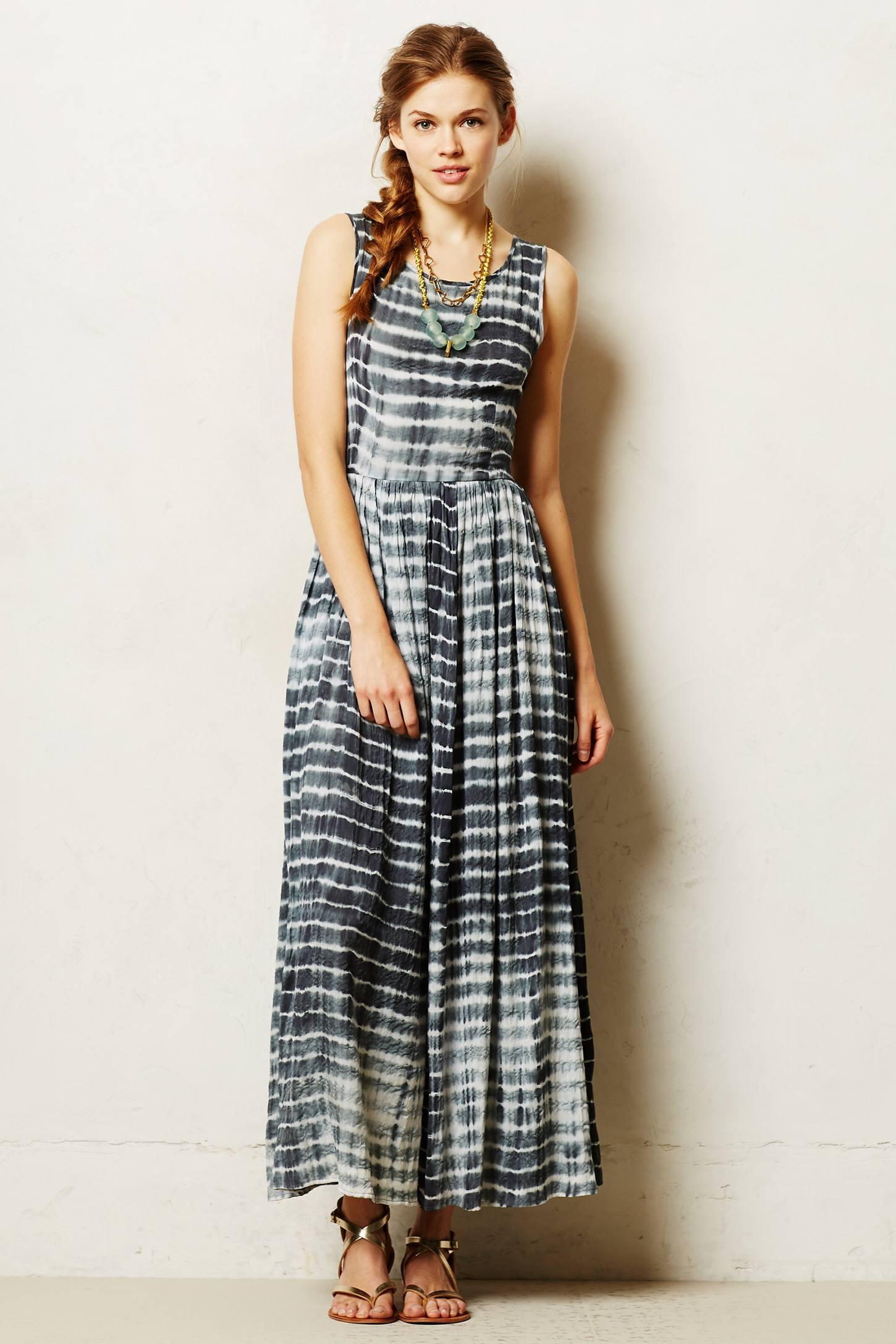Shibori maxi dress