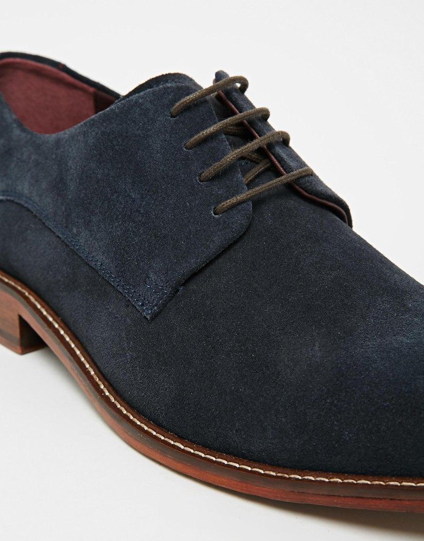 7ede7c1245521c Lyst Ted Baker Joehal Suede Derby Shoes In Blue For Men