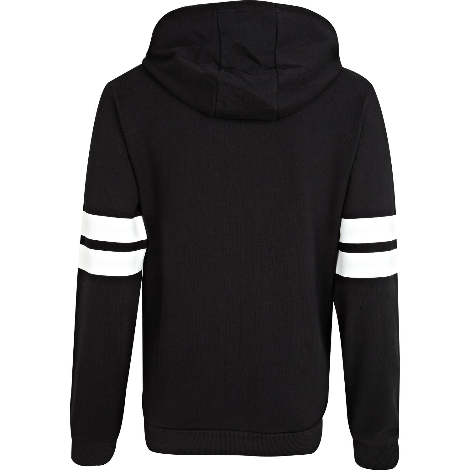 Black Hoodie With White Sleeves