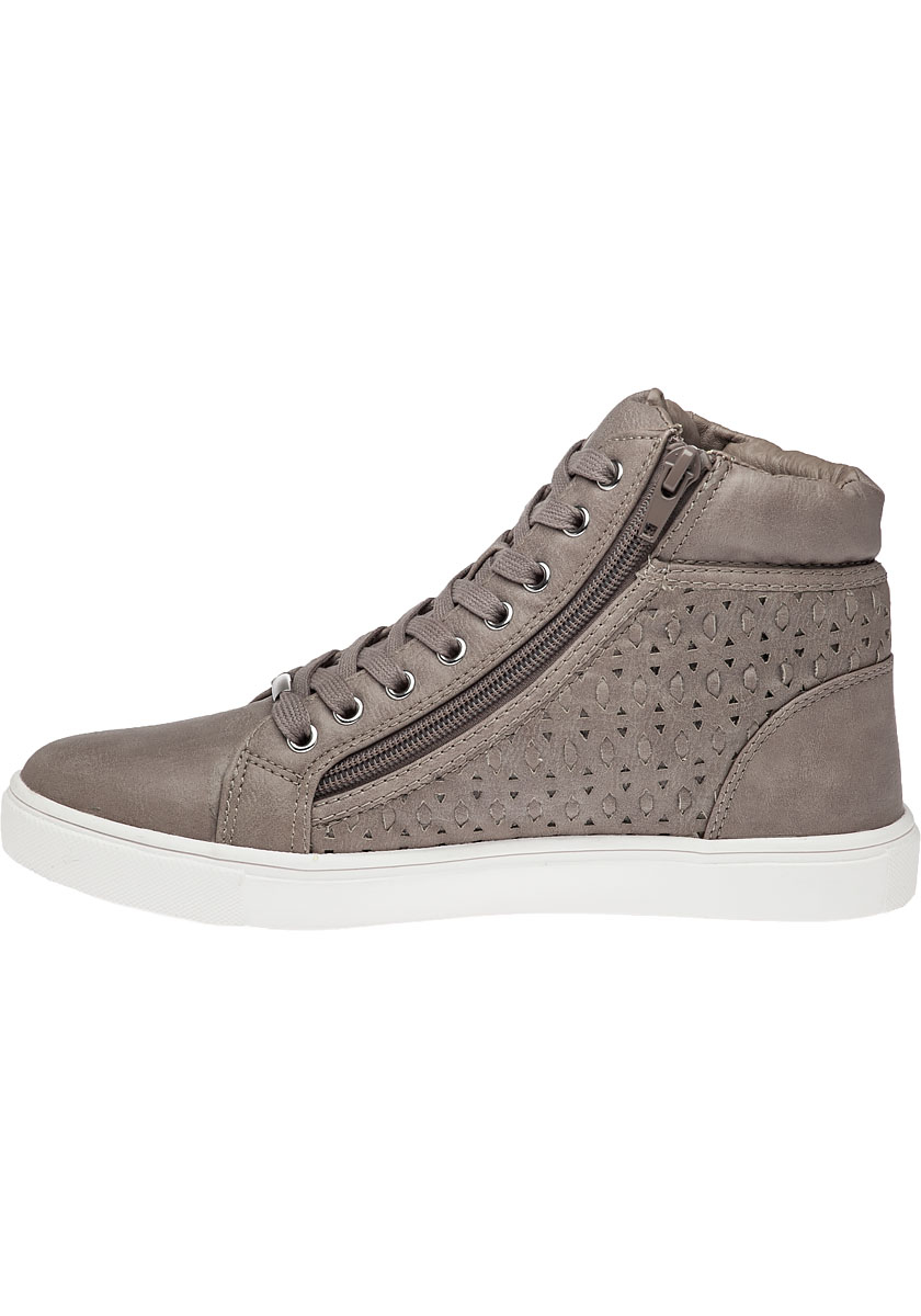 1fcf4065bcf Lyst - Steve Madden Eiris Grey High Top Sneaker in Gray