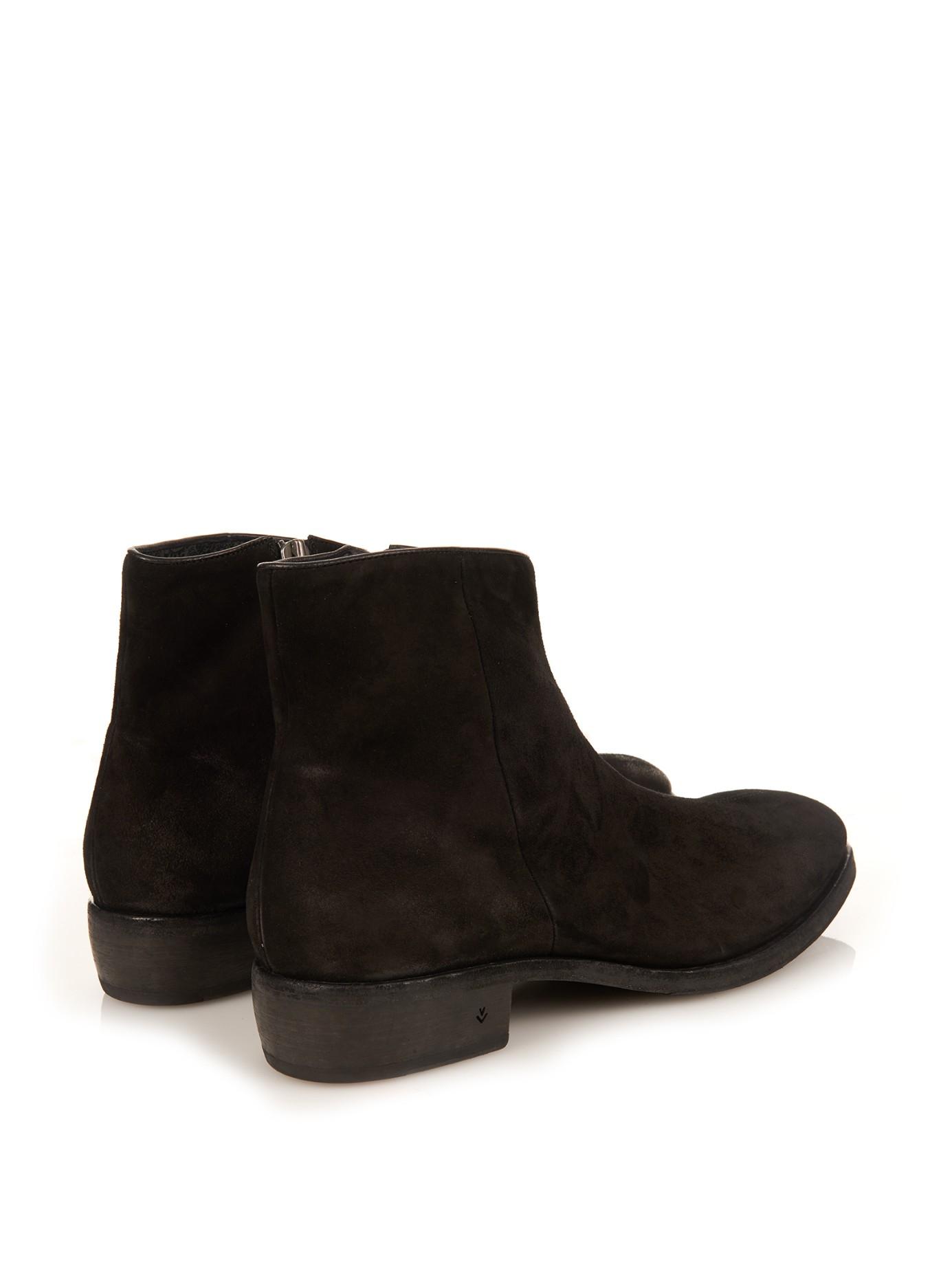 varvatos morrison boots in black for lyst