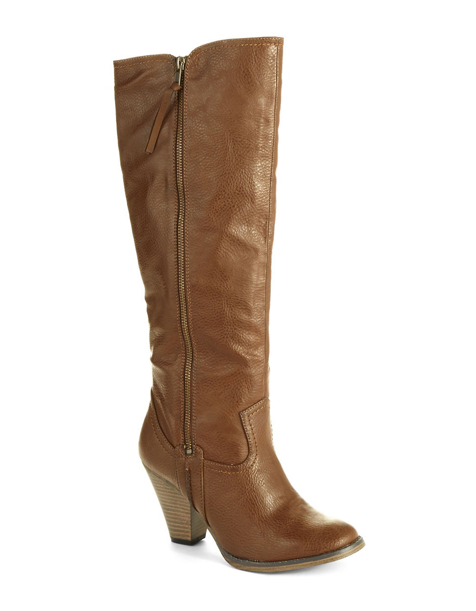 vagabond stacked heel boots in brown lyst