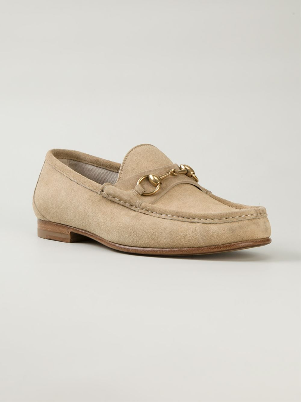 Lyst - Gucci Green Python Horsebit Loafers in Natural for Men