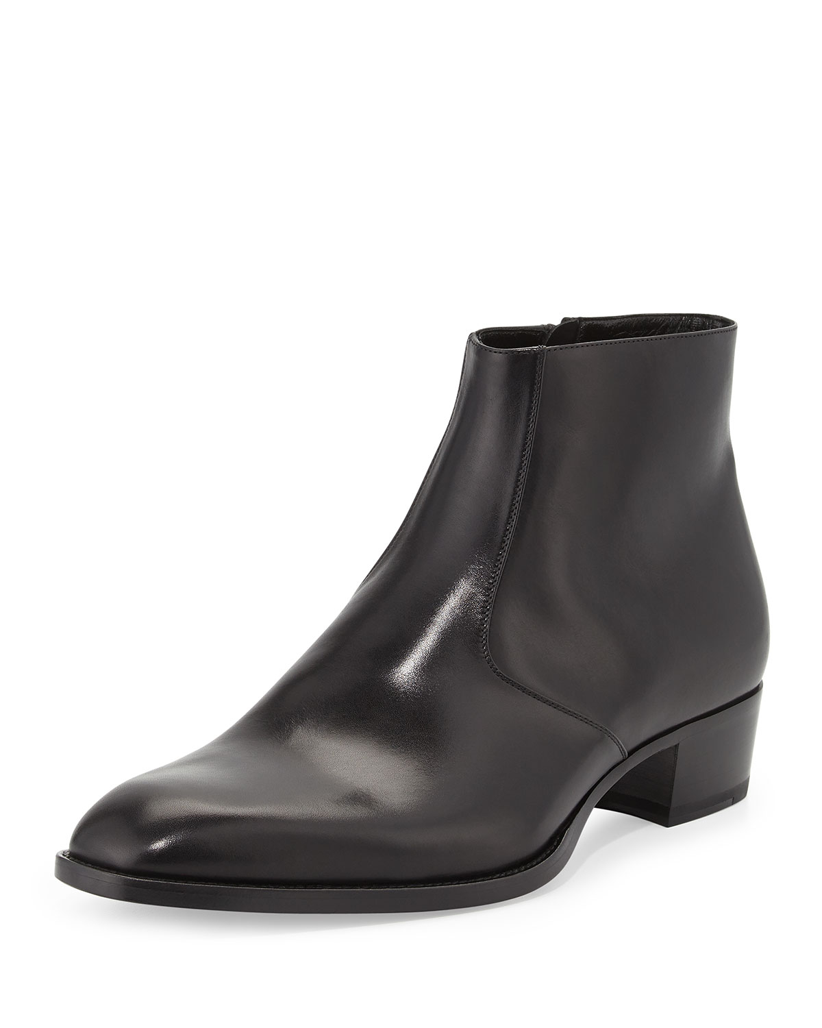 laurent wyatt s leather ankle boot in black for