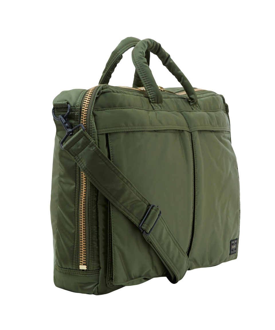 Lyst Porter Green Canvas Briefcase Bag In Green For Men