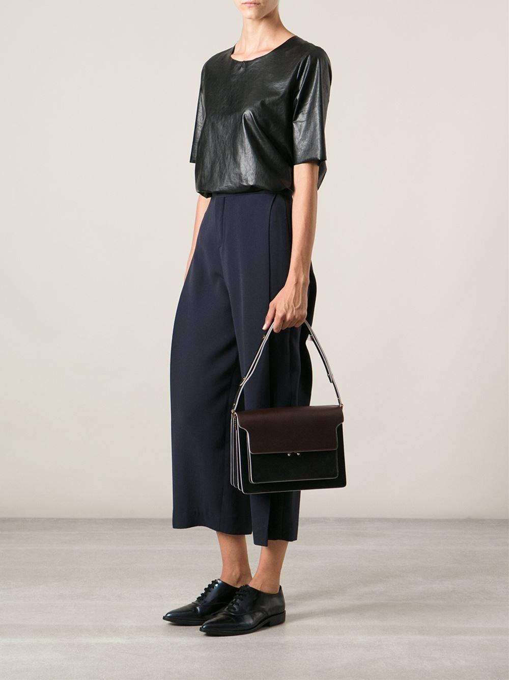 Marni Trunk Shoulder Bag In Brown Lyst
