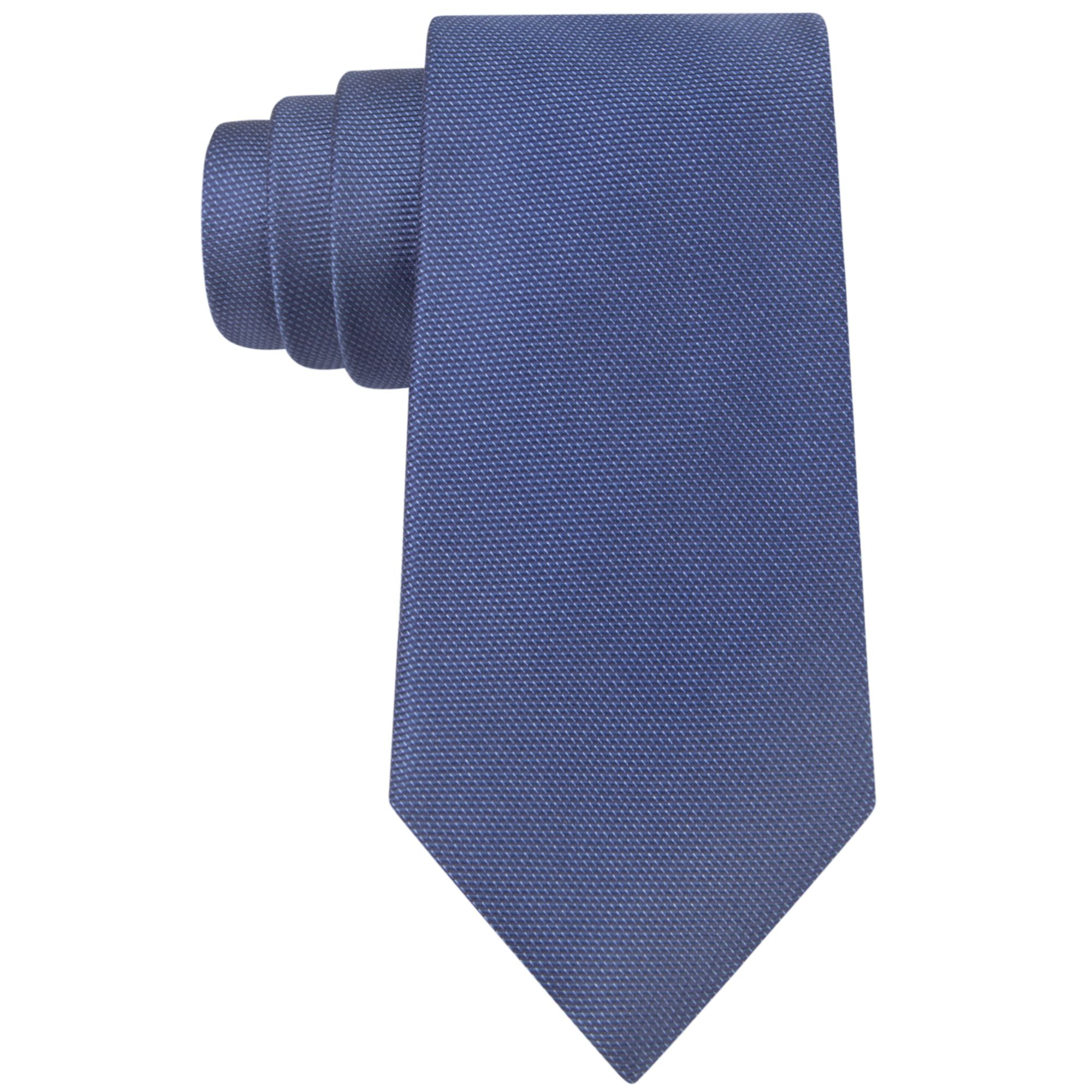 dkny frosty solid slim tie in blue for navy lyst