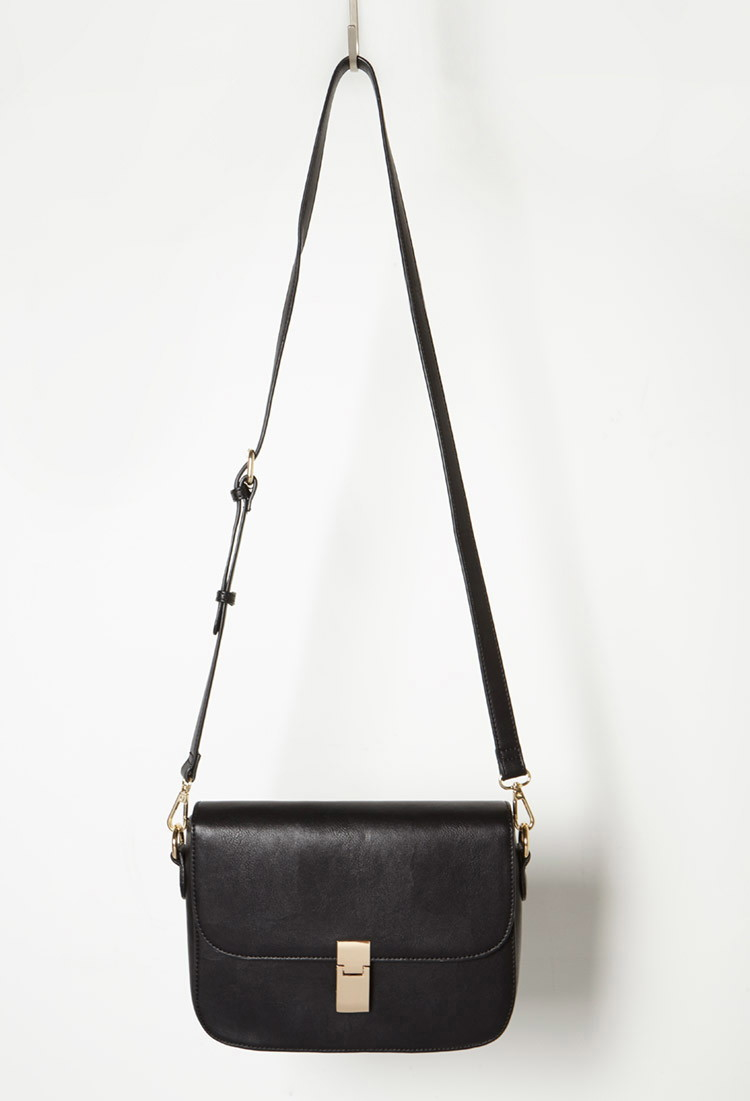 Forever 21 Double-Zip Faux Leather Crossbody 4wUhqxm