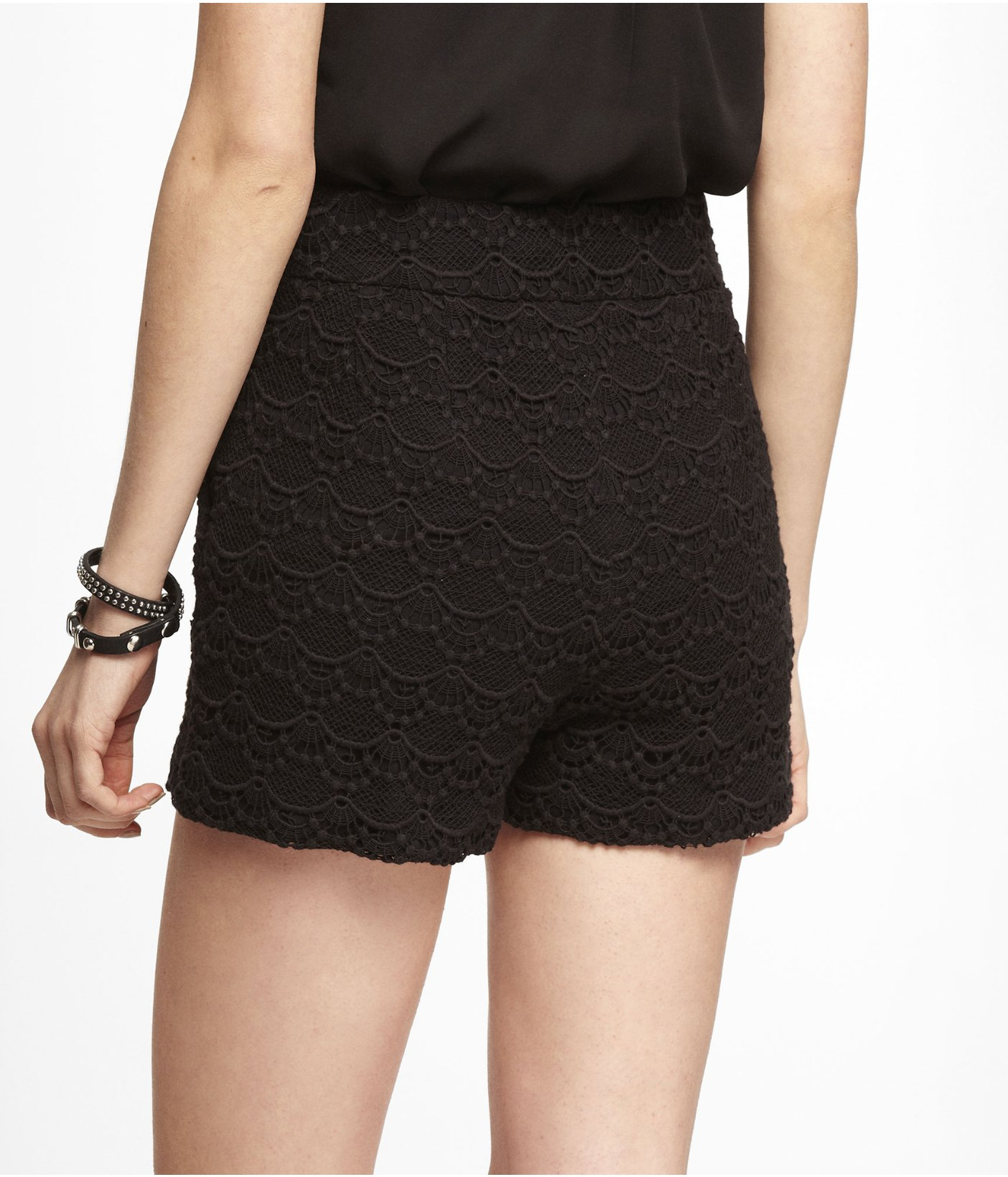 fashion design godere del prezzo più basso scegli ufficiale Express 2 12 Inch High Rise Crocheted Lace Shorts in Black - Lyst