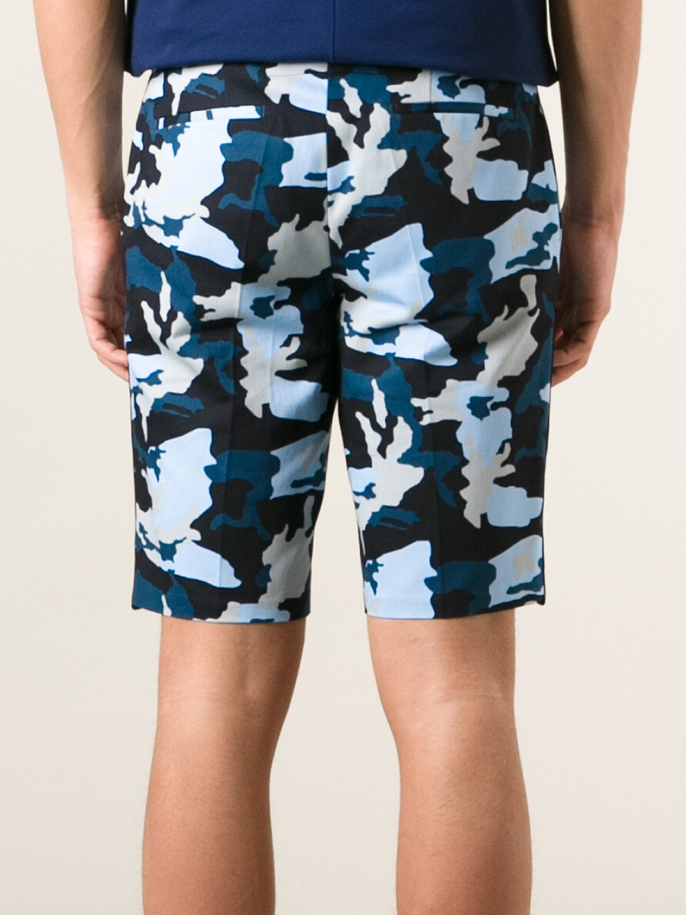 Lyst - Givenchy Camo Print Shorts in Blue for Men d381f7d2622