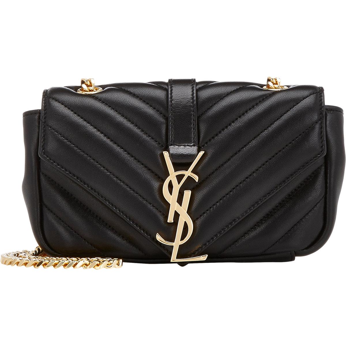 35a4d131e86b Saint Laurent Monogramme Baby Shoulder Bag in Black - Lyst
