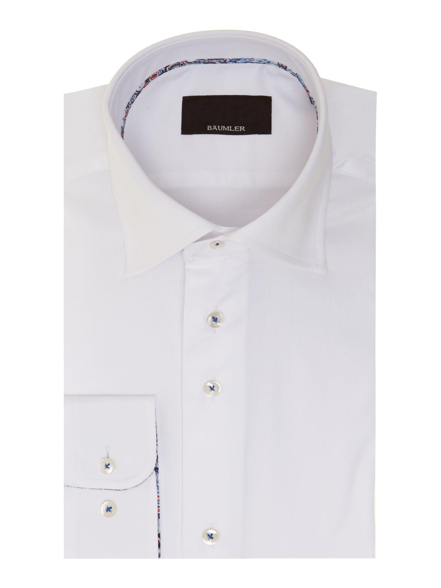 B umler single cuff shirt in white for men lyst for Single cuff dress shirt
