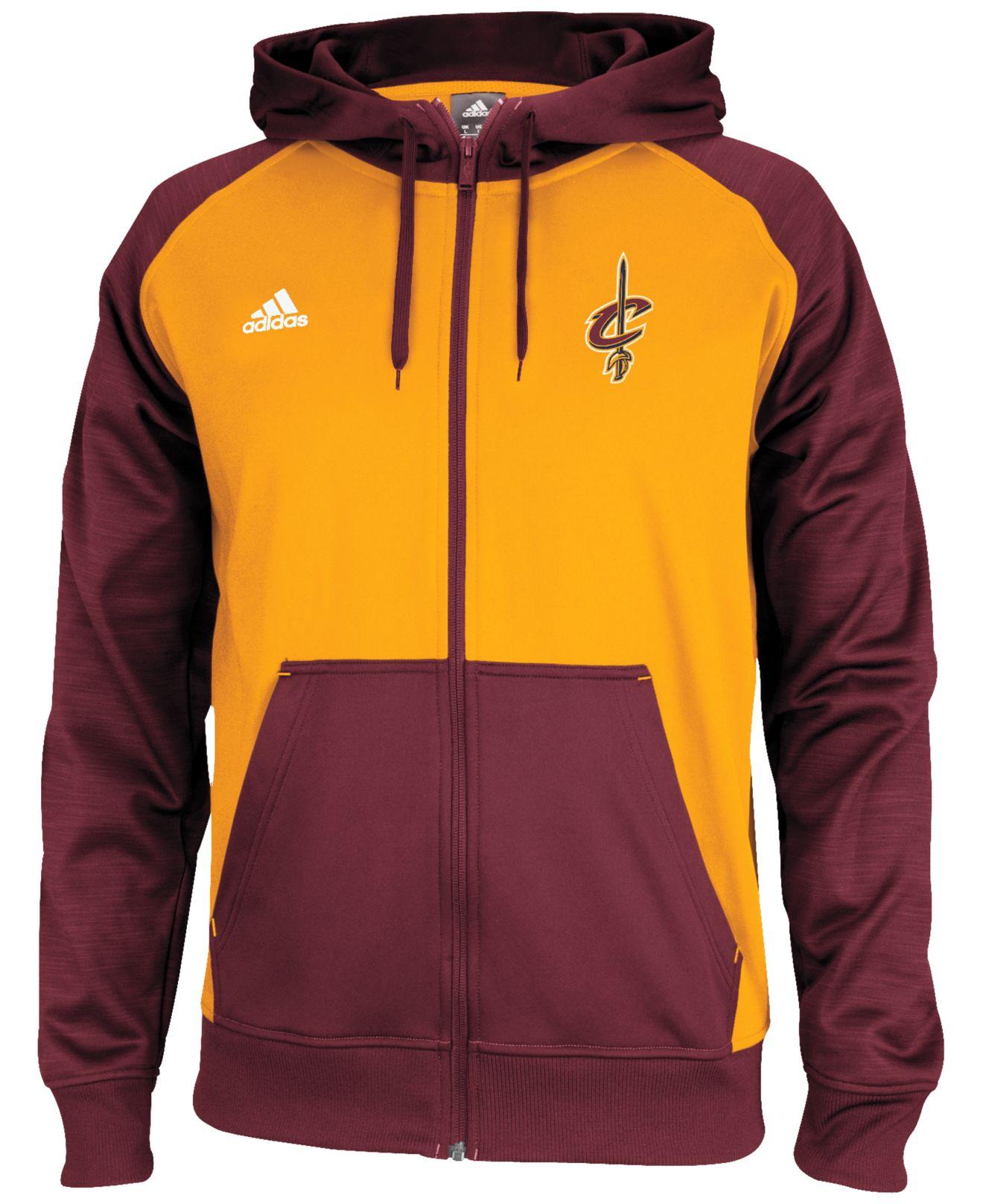 Nominal Establecimiento Huelga  adidas Men'S Cleveland Cavaliers Pre-Game Full-Zip Hoodie in ...