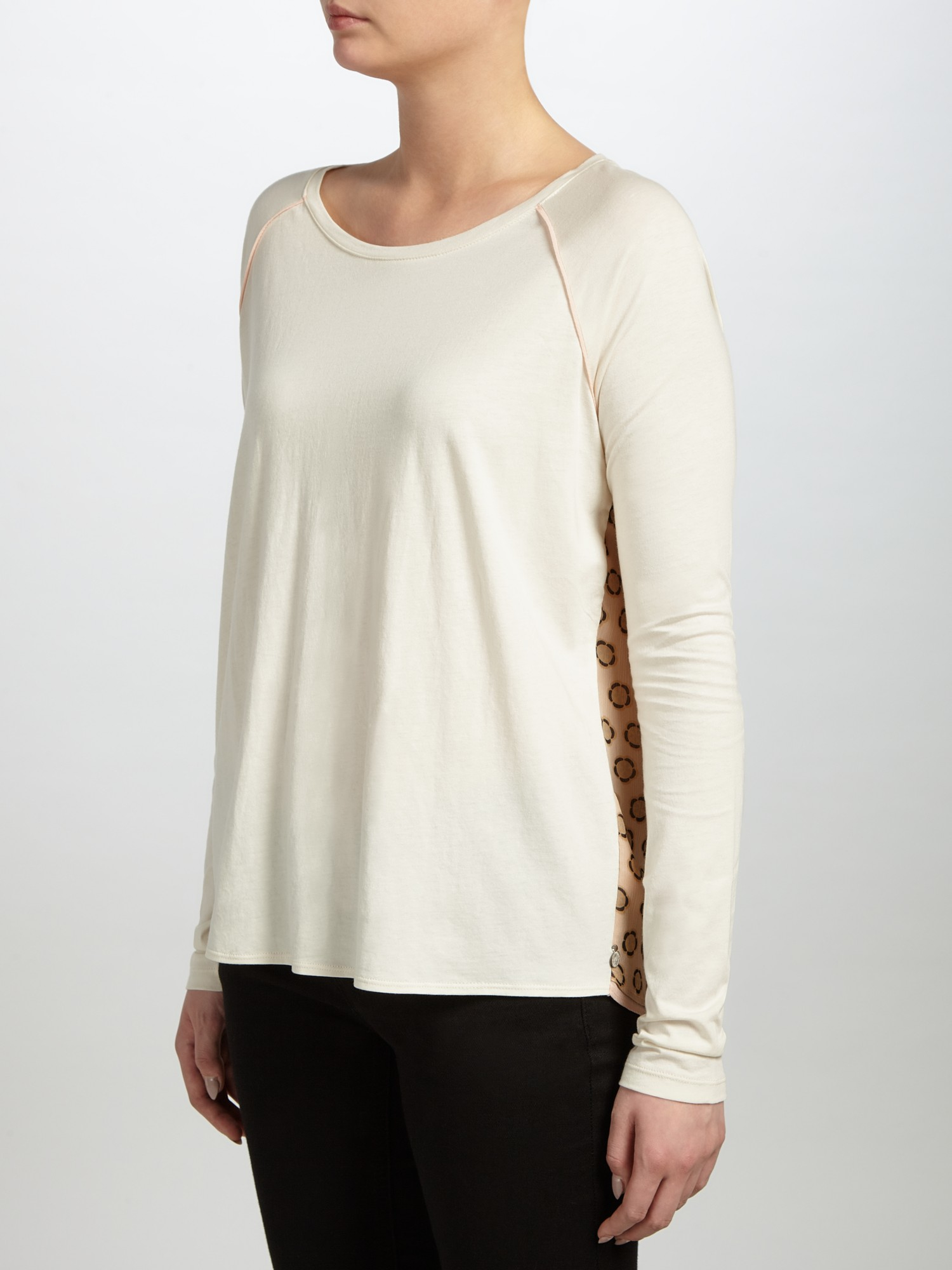 Maison Scotch Printed Back T Shirt In White Lyst