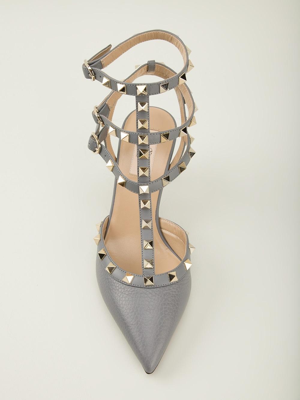 grey valentino rockstud shoes Shop