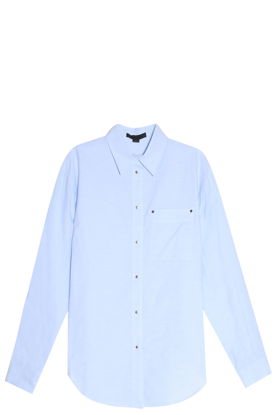 alexander wang oversized shirt in blue white lyst. Black Bedroom Furniture Sets. Home Design Ideas