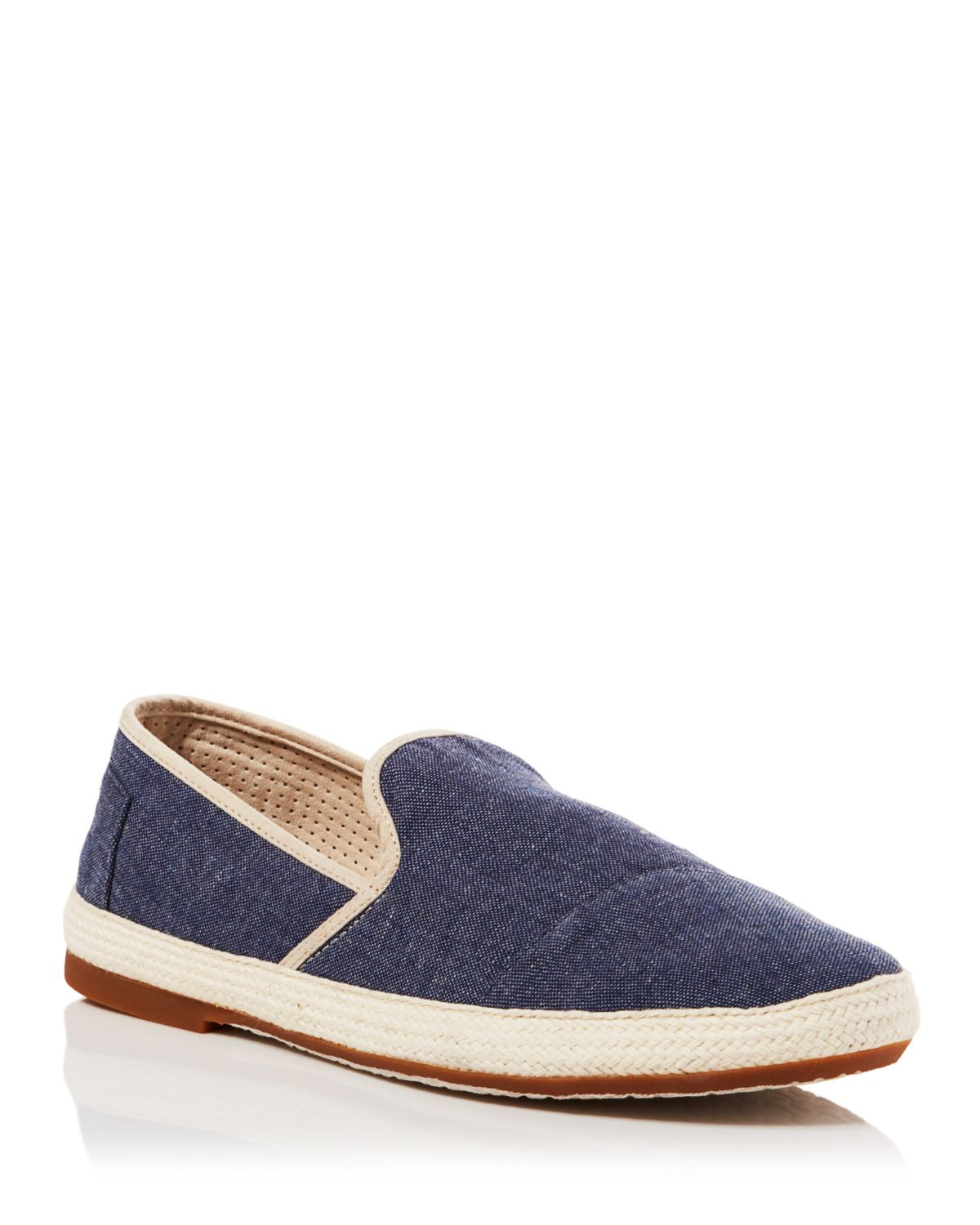 Toms Blue Chambray Espadrille Shoe
